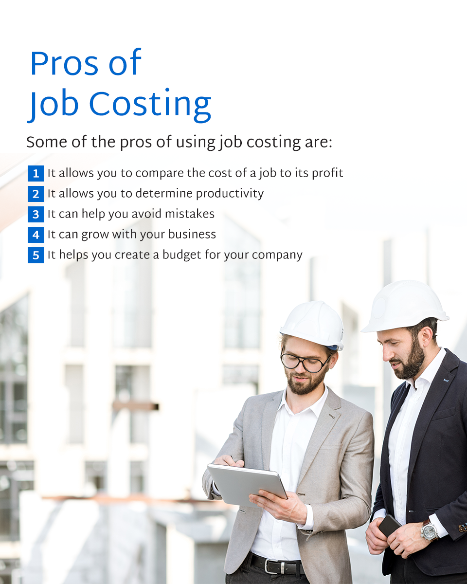 the pros of using job costing