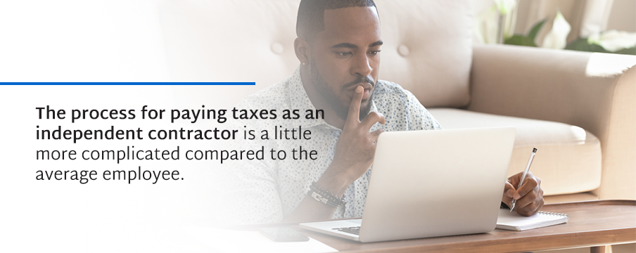 paying taxes as independent contractor